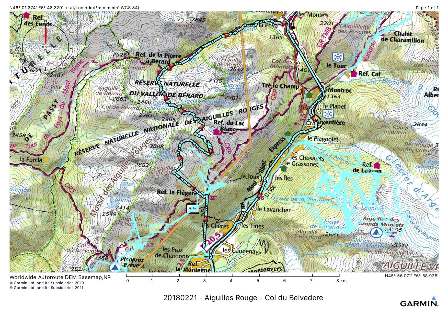 20180221 - Aiguilles Rouge - Col du Belvedere