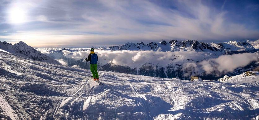 View from Les Grands Montete accross the Chamonix Valley