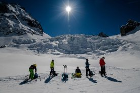 Vallee Blanche lunch spot
